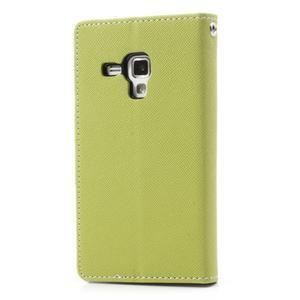 Diary pouzdro na mobil Samsung Galaxy S Duos/Trend Plus - zelené - 2