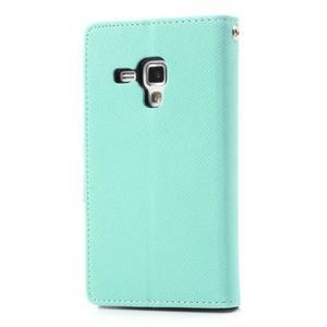 Diary pouzdro na mobil Samsung Galaxy S Duos/Trend Plus - azurové - 2