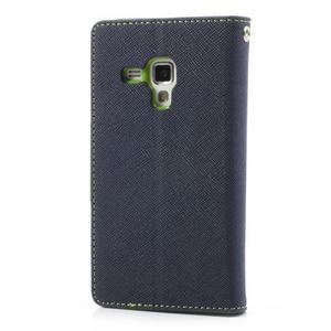 Diary pouzdro na mobil Samsung Galaxy S Duos/Trend Plus - tmavěmodré - 2
