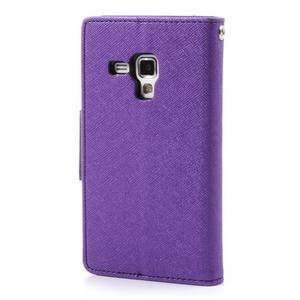 Diary pouzdro na mobil Samsung Galaxy S Duos/Trend Plus - fialové - 2