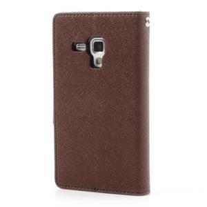 Diary pouzdro na mobil Samsung Galaxy S Duos/Trend Plus - hnědé/černé - 2