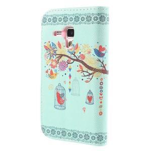 Peněženkové pouzdro pro Samsung Galaxy S Duos / Trend Plus - ptáček v kleci - 2