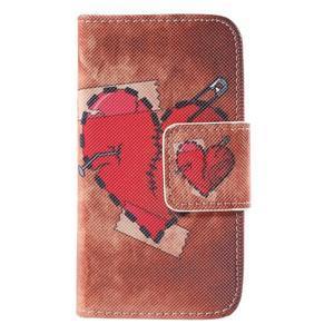 Peněženkové pouzdro pro Samsung Galaxy S Duos / Trend Plus - zlomené srdce - 2