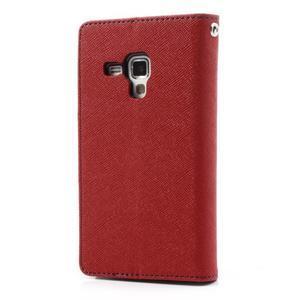Diary pouzdro na mobil Samsung Galaxy S Duos/Trend Plus - červené - 2
