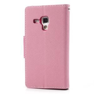 Diary pouzdro na mobil Samsung Galaxy S Duos/Trend Plus - růžové - 2
