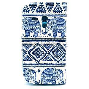 Peněženkové pouzdro na Samsung Galaxy S3 mini - sloni - 2