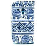 Peněženkové pouzdro na Samsung Galaxy S3 mini - sloni - 2/6