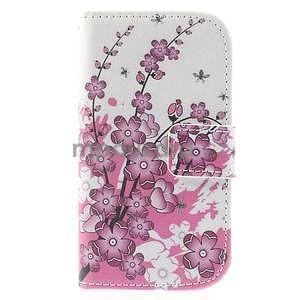 Pouzdro na mobil Samsung Galaxy S3 mini - kvetoucí větvička - 2
