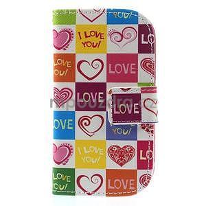 Peněženkové pouzdro na Samsung Galaxy S3 mini - srdce - 2