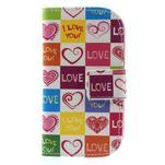 Peněženkové pouzdro na Samsung Galaxy S3 mini - srdce - 2/7