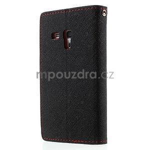 Diary peněženkové pouzdro na mobil Samsung Galaxy S3 mini - černé/červené - 2