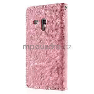 Diary peněženkové pouzdro na mobil Samsung Galaxy S3 mini - růžové/azurové - 2