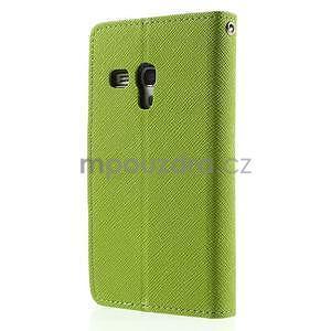 Diary peněženkové pouzdro na mobil Samsung Galaxy S3 mini - zelené/tmavěmodré - 2