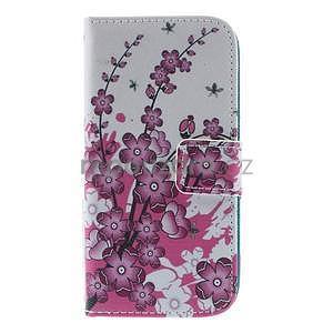 Peněženkové pouzdro pro Samsung Galaxy S4 mini - květoucí větvička - 2
