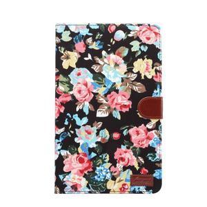 Květinové pouzdro na tablet Samsung Galaxy Tab A 10.1 (2016) - černé - 2