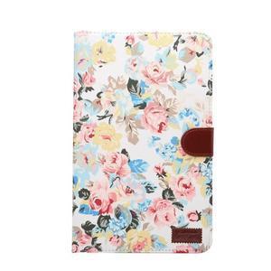Květinové pouzdro na tablet Samsung Galaxy Tab A 10.1 (2016) - bílé - 2