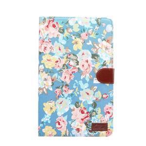 Květinové pouzdro na tablet Samsung Galaxy Tab A 10.1 (2016) - modré - 2