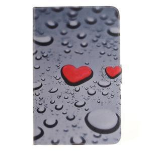 Closy PU kožené pouzdro na Samsung Galaxy Tab A 10.1 (2016) - srdce - 2
