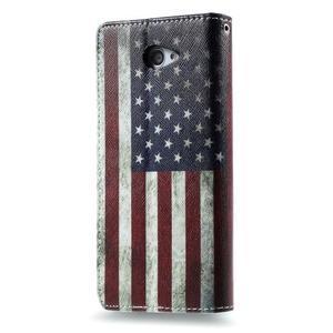 Peněženkové pouzdro na mobil Sony Xperia M2 - US vlajka - 2