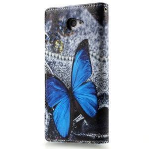 Peněženkové pouzdro na mobil Sony Xperia M2 - modrý motýl - 2