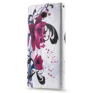 Peněženkové pouzdro na mobil Sony Xperia M2 - květy - 2