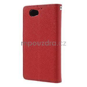 Fancy peněženkové pouzdro na Sony Xperia Z1 Compact - červené - 2