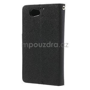 Fancy peněženkové pouzdro na Sony Xperia Z1 Compact - černé - 2
