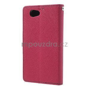 Fancy peněženkové pouzdro na Sony Xperia Z1 Compact - rose - 2