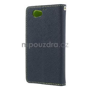 Fancy peněženkové pouzdro na Sony Xperia Z1 Compact - tmavěmodré - 2