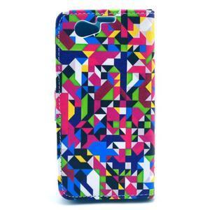 Pouzdro na mobil Sony Xperia Z1 Compact - geometircké vzory - 2