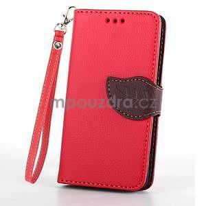 Leaf peněženkové pouzdro na Sony Xperia Z3 Compact - červené - 2