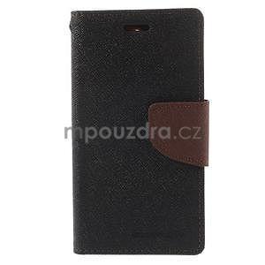Diary peněženkové pouzdro na mobil Sony Xperia Z3 Compact - černé/hnědé - 2