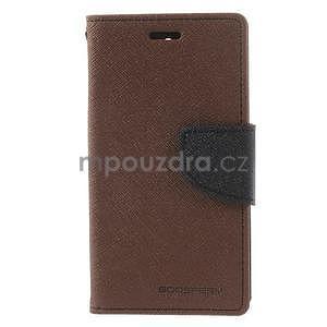 Diary peněženkové pouzdro na mobil Sony Xperia Z3 Compact - hnědé - 2