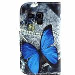 Peněženkové pouzdro pro Samsung Galaxy Trend Plus / Galaxy S duos - modrý motýl - 2/4