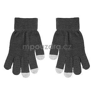 Touch dotykové rukavice na mobil - šedé - 2