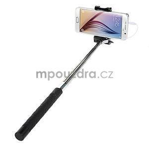 Selfie tyč s automatickým spínačem na rukojeti - černá - 2