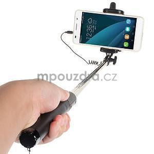 GX automatická selfie tyč se spínačem - černá - 2