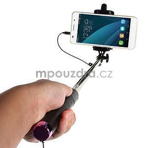 GX automatická selfie tyč se spínačem - růžová - 2