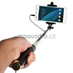 GX automatická selfie tyč se spínačem - zlatá - 2