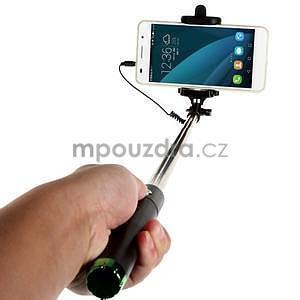 GX automatická selfie tyč se spínačem - zelená - 2