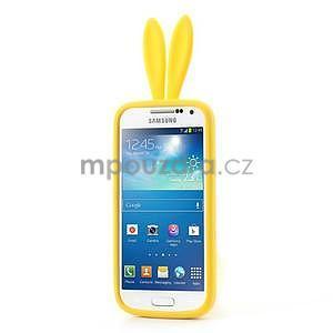 Silikonový obal na Samsung Galaxy S4 mini - žlutý králík - 2