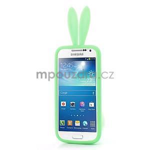 Silikonový obal na Samsung Galaxy S4 mini - zelený králík - 2