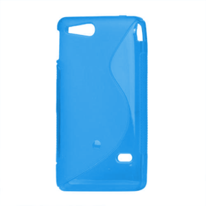 Gelové S-line pouzdro na Sony Xperia Go- modré - 2