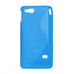 Gelové S-line pouzdro na Sony Xperia Go- modré - 2/3