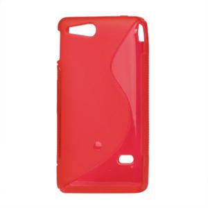 Gelové S-line pouzdro na Sony Xperia Go- červené - 2
