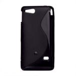 Gelové S-line pouzdro na Sony Xperia Go- černé - 2/3
