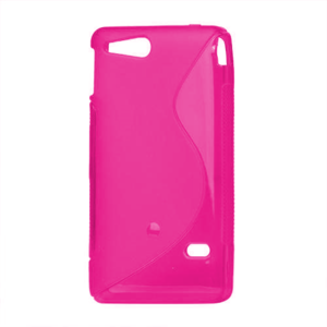 Gelové S-line pouzdro na Sony Xperia Go- růžové - 2