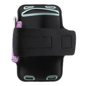 Fittsport pouzdro na ruku pro mobil do rozměrů 143.4 x 70,5 x 6,8 mm - fialové - 2