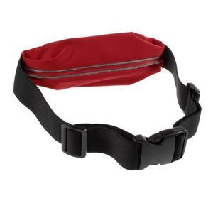Sportovní kapsička přes pas na mobily do rozměrů 149 x 75 mm - červené - 2