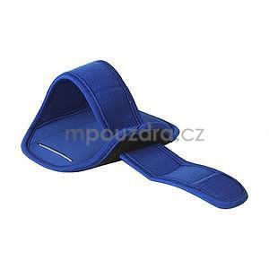Fitness sportovní pouzdro na mobil (140 x 75 mm) - modré - 2